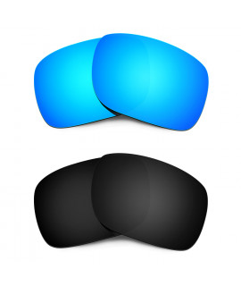 HKUCO Blue+Black Polarized Replacement Lenses for Oakley Holbrook Sunglasses