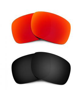HKUCO Red+Black Polarized Replacement Lenses for Oakley Holbrook Sunglasses