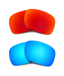 HKUCO Red+Blue Polarized Replacement Lenses for Oakley Holbrook Sunglasses