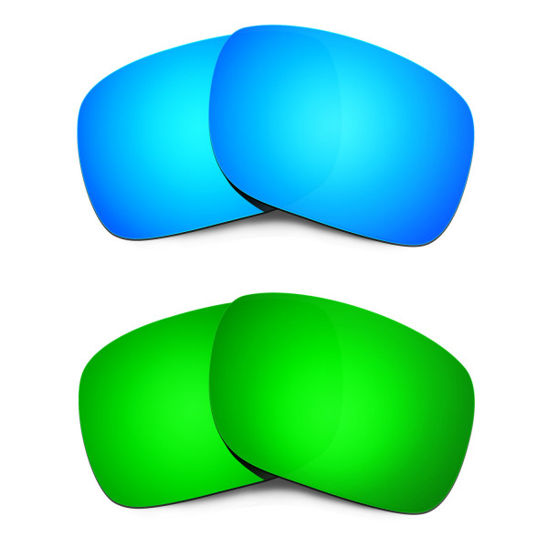 HKUCO Blue+Emerald Green Polarized Replacement Lenses for Oakley Holbrook Sunglasses