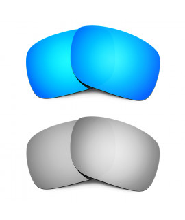 HKUCO Blue+Titanium Polarized Replacement Lenses for Oakley Holbrook Sunglasses