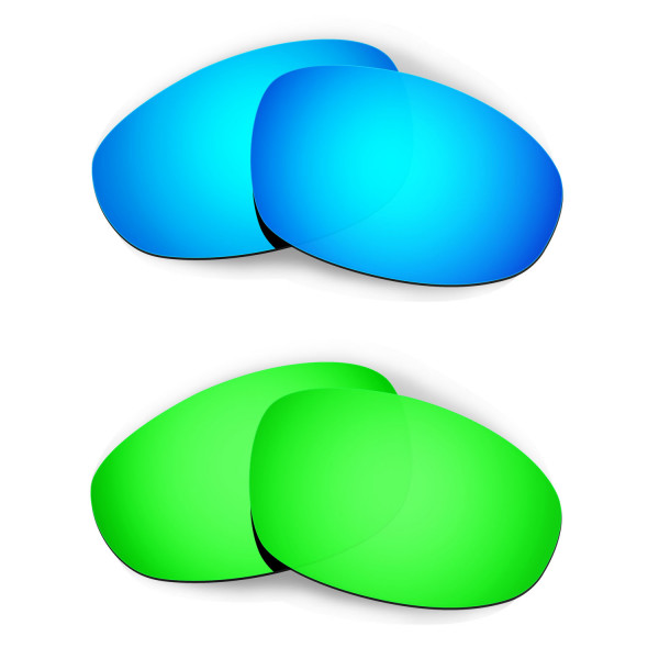 HKUCO Blue+Emerald Green Polarized Replacement Lenses for Oakley Juliet Sunglasses