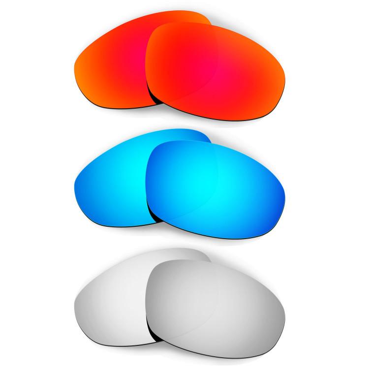 8c96eccadbcf4 HKUCO Red+Blue+Titanium Polarized Replacement Lenses for Oakley Juliet  Sunglasses