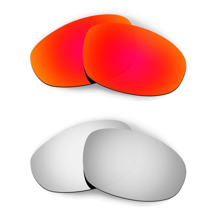 323e350cef542 HKUCO Red+Titanium Polarized Replacement Lenses for Oakley Juliet Sunglasses