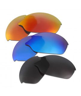 HKUCO Red+Blue+Black Polarized Replacement Lenses for Oakley Romeo 2.0 Sunglasses