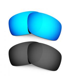 HKUCO Blue+Black Polarized Replacement Lenses for Oakley Scalpel Sunglasses
