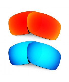 HKUCO Red+Blue Polarized Replacement Lenses for Oakley Scalpel Sunglasses