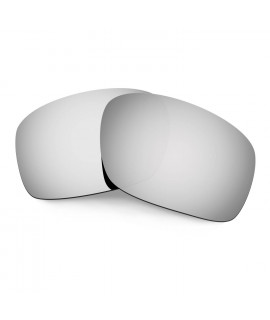 Hkuco Mens Replacement Lenses For Oakley Scalpel Sunglasses Titanium Mirror Polarized