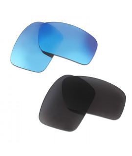 HKUCO Blue+Black Polarized Replacement Lenses for Oakley Triggerman Sunglasses
