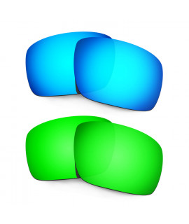 Hkuco Mens Replacement Lenses For Oakley Triggerman Blue/Green Sunglasses