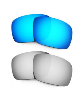 Hkuco Mens Replacement Lenses For Oakley Triggerman Blue/Titanium Sunglasses