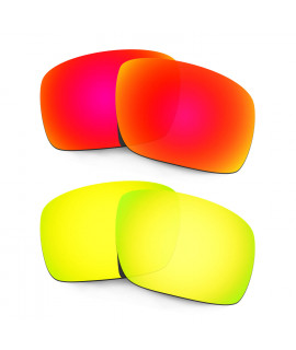 Hkuco Mens Replacement Lenses For Oakley Triggerman Red/24K Gold Sunglasses