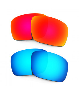 Hkuco Mens Replacement Lenses For Oakley Triggerman Red/Blue Sunglasses