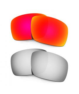 Hkuco Mens Replacement Lenses For Oakley Triggerman Red/Titanium Sunglasses