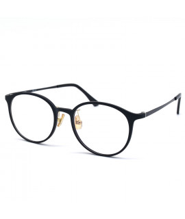 HKUCO Classic Stylish Clear Lens Frame Glasses Black Circle Frame (LENSES: Demo lenses - Non Prescription)