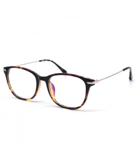 HKUCO Stylish Clear Lens Frame Glasses Circle Frame (LENSES: Demo lenses - Non Prescription)