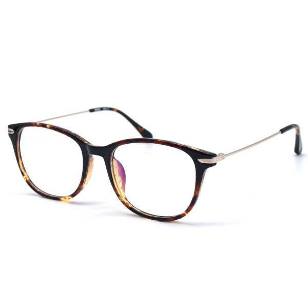 HKUCO Stylish Clear Lens Frame Glasses Circle Frame (Multiple Lens Color Options)