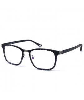 HKUCO Fashion Horned Rim Rectangular Black Frame Clear Lens Eye Glasses (LENSES: Demo lenses - Non Prescription)