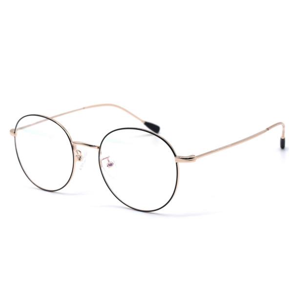 HKUCO Black/Gold Metal Frame Clear Lens Eyewear Glasses (Multiple Lens Color Options)