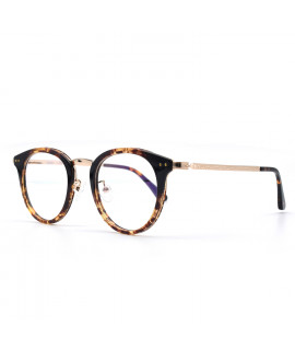 HKUCO Prescription Glasses Special Stylish Frame Glasses Circle Frame (Multiple Lens Color Options)