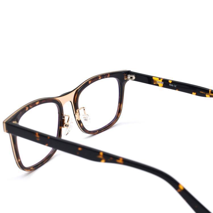 fc2e681682d HKUCO Casual Fashion Horned Rim Rectangular Frame Clear Lens Eye Glasses ( LENSES  Demo lenses - Non Prescription)