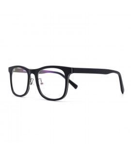 HKUCO Glasses Casual Fashion Horned Rim Rectangular Black Frame Eye Glasses (LENSES: Demo lenses - Non Prescription)