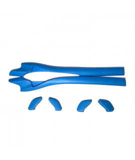 HKUCO Blue Replacement Silicone Leg Set For Oakley Half Jacket 2.0 Sunglasses Earsocks Rubber Kit