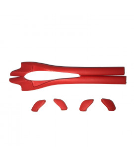 HKUCO Red Replacement Silicone Leg Set For Oakley Half Jacket 2.0 XL Sunglasses Earsocks Rubber Kit