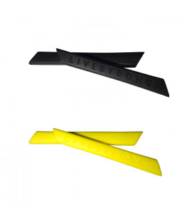 HKUCO Black/Yellow Replacement Silicone Leg Set For Oakley Racing Jacket Vented Sunglasses Earsocks Rubber Kit