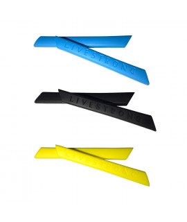 HKUCO Blue/Black/Yellow Replacement Silicone Leg Set For Oakley Racing Jacket Vented Sunglasses Earsocks Rubber Kit