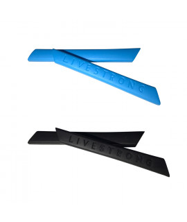 HKUCO Blue/Black Replacement Silicone Leg Set For Oakley Racing Jacket Vented Sunglasses Earsocks Rubber Kit