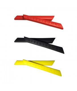 HKUCO Red/Back/Yellow Replacement Silicone Leg Set For Oakley Racing Jacket Vented Sunglasses Earsocks Rubber Kit