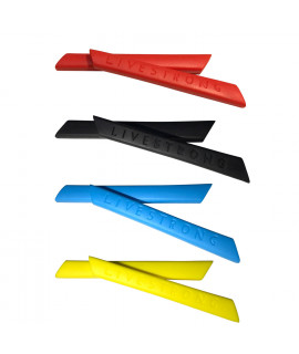 HKUCO Red/Blue/Black/Yellow Replacement Silicone Leg Set For Oakley Racing Jacket Vented Sunglasses Earsocks Rubber Kit