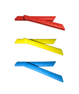 HKUCO Red/Blue/Yellow Replacement Silicone Leg Set For Oakley Racing Jacket Vented Sunglasses Earsocks Rubber Kit