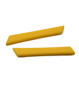 HKUCO Yellow Replacement Silicone Leg Set For Oakley Racing Jacket Vented Sunglasses Earsocks Rubber Kit
