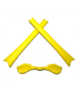 HKUCO Yellow Replacement Silicone Leg Set For Oakley Radar Sunglasses Earsocks Rubber Kit