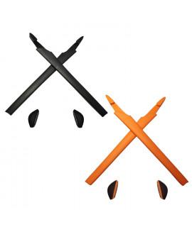 HKUCO Black/Orange Replacement Silicone Leg Set For Oakley Crosslink Sunglasses Earsocks Rubber Kit