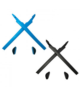 HKUCO Blue/Black Replacement Silicone Leg Set For Oakley Crosslink Sunglasses Earsocks Rubber Kit