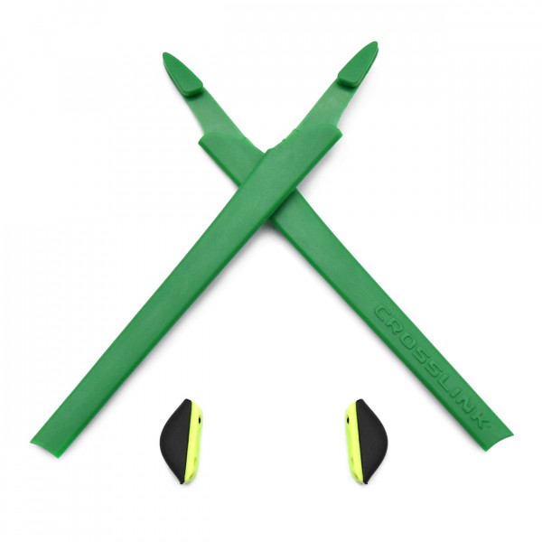 HKUCO Green Replacement Silicone Leg Set For Oakley Crosslink Sunglasses Earsocks Rubber Kit