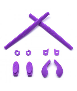 HKUCO Purple Replacement Silicone Leg Set For Oakley Juliet Sunglasses Earsocks Rubber Kit