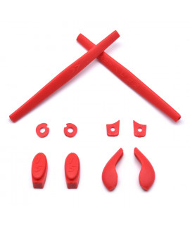 HKUCO Red Replacement Silicone Leg Set For Oakley Juliet Sunglasses Earsocks Rubber Kit