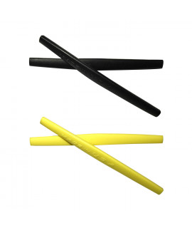 HKUCO Black/Yellow Replacement Silicone Leg Set For Oakley Whisker Sunglasses Earsocks Rubber Kit