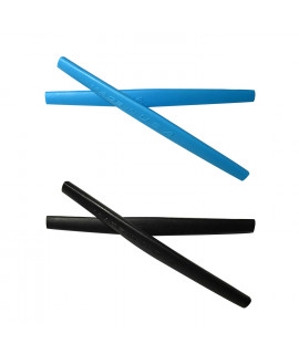 HKUCO Blue/Black Replacement Silicone Leg Set For Oakley Whisker Sunglasses Earsocks Rubber Kit