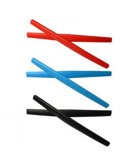 HKUCO Red/Blue/Black Replacement Silicone Leg Set For Oakley Whisker Sunglasses Earsocks Rubber Kit