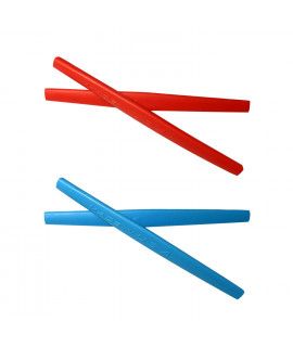 HKUCO Red/Blue Replacement Silicone Leg Set For Oakley Whisker Sunglasses Earsocks Rubber Kit
