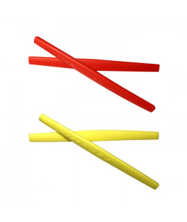 HKUCO Red/Yellow Replacement Silicone Leg Set For Oakley Whisker Sunglasses Earsocks Rubber Kit