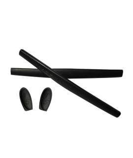HKUCO Black Replacement Silicone Leg Set For Oakley X Metal Series Sunglasses Earsocks Rubber Kit