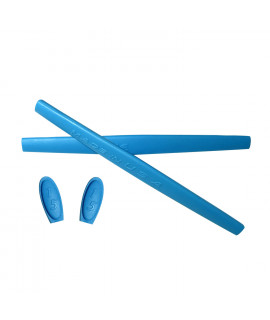 HKUCO Blue Replacement Silicone Leg Set For Oakley X Metal XX Sunglasses Earsocks Rubber Kit