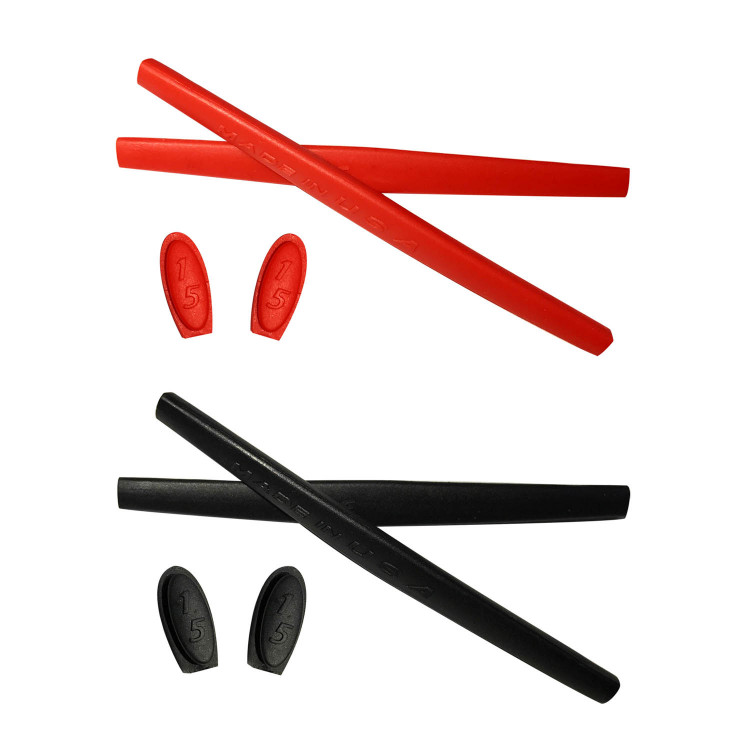 Hkuco Red Black Replacement Silicone Leg Set For Oakley
