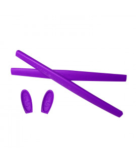 HKUCO Purple Replacement Silicone Leg Set For Oakley X Metal XX Sunglasses Earsocks Rubber Kit